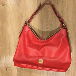 NWOT Red leather Dooney and Burke tote